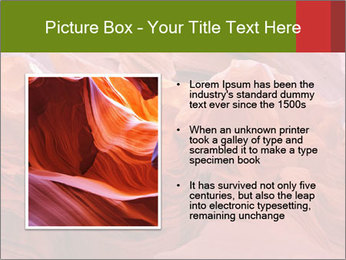 Fiery color in the stone PowerPoint Template - Slide 13