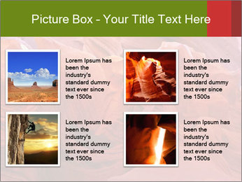 Fiery color in the stone PowerPoint Template - Slide 14
