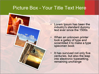 Fiery color in the stone PowerPoint Template - Slide 17