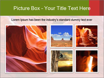 Fiery color in the stone PowerPoint Template - Slide 19