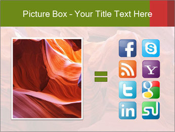 Fiery color in the stone PowerPoint Template - Slide 21