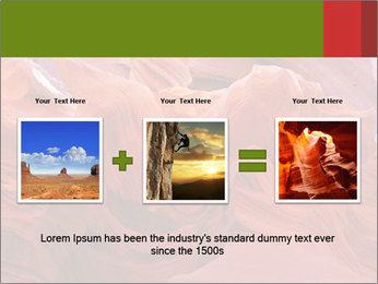 Fiery color in the stone PowerPoint Template - Slide 22