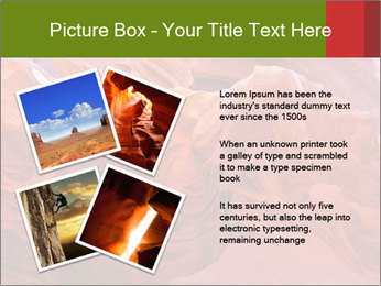 Fiery color in the stone PowerPoint Template - Slide 23