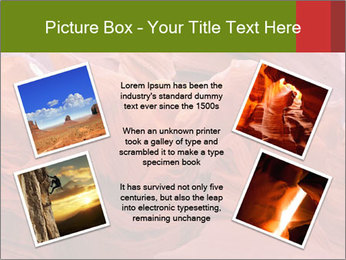 Fiery color in the stone PowerPoint Template - Slide 24