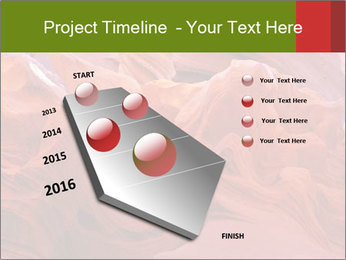 Fiery color in the stone PowerPoint Template - Slide 26