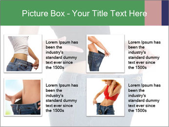 Young female shows her old huge pair of jeans PowerPoint Templates - Slide 14