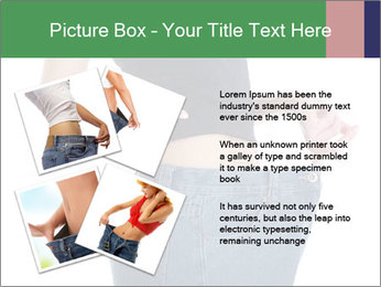 Young female shows her old huge pair of jeans PowerPoint Templates - Slide 23