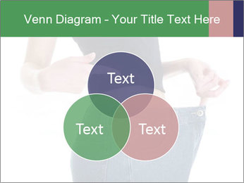 Young female shows her old huge pair of jeans PowerPoint Templates - Slide 33