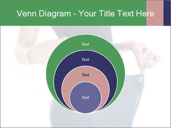 Young female shows her old huge pair of jeans PowerPoint Templates - Slide 34