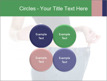 Young female shows her old huge pair of jeans PowerPoint Templates - Slide 38