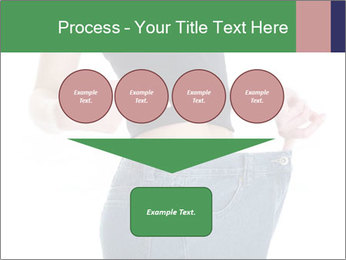Young female shows her old huge pair of jeans PowerPoint Templates - Slide 93
