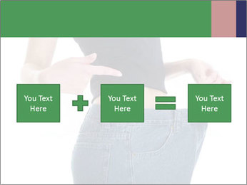 Young female shows her old huge pair of jeans PowerPoint Templates - Slide 95