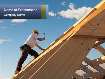 Roofer PowerPoint Templates - Slide 1