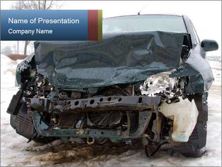 The car after failure PowerPoint Template