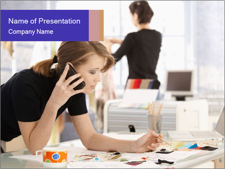 Attractive female PowerPoint Templates