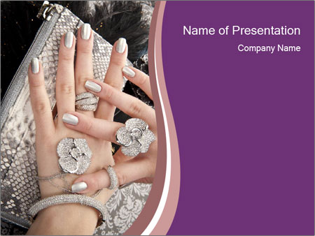 Hands with accessory PowerPoint Templates