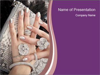Hands with accessory PowerPoint Template - Slide 1