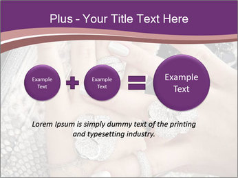 Hands with accessory PowerPoint Template - Slide 75