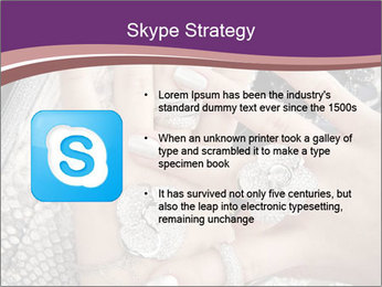 Hands with accessory PowerPoint Template - Slide 8