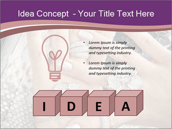 Hands with accessory PowerPoint Template - Slide 80