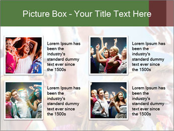 Cheerful friends dancing PowerPoint Template - Slide 14