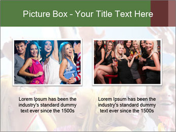 Cheerful friends dancing PowerPoint Template - Slide 18