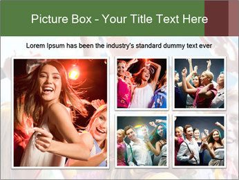 Cheerful friends dancing PowerPoint Template - Slide 19