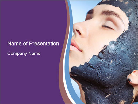 Woman with spa PowerPoint Templates