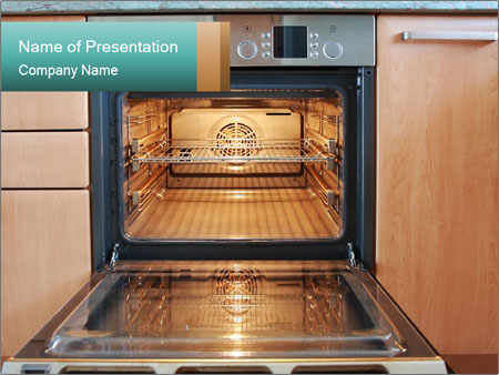 Empty open oven PowerPoint Templates