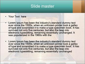 Empty open oven PowerPoint Template - Slide 2