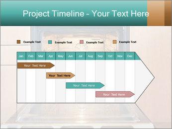 Empty open oven PowerPoint Template - Slide 25