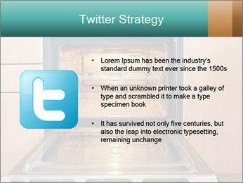 Empty open oven PowerPoint Template - Slide 9
