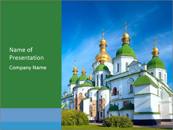 Morning Saint Sophia Cathedral church PowerPoint Template - Slide 1