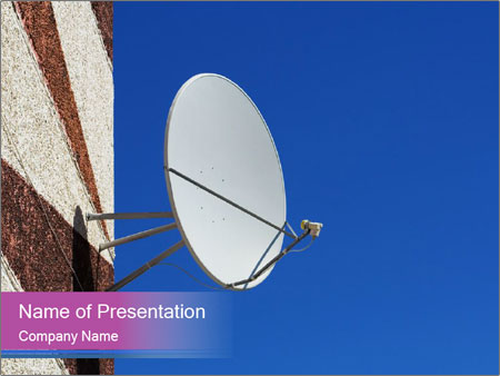 Satellite dish PowerPoint Template