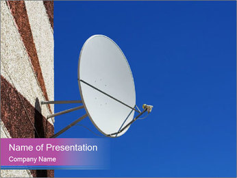 Satellite dish PowerPoint Template - Slide 1
