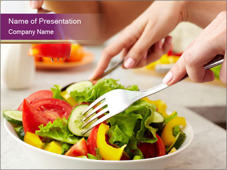 Tasting salad PowerPoint Template