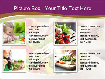 Tasting salad PowerPoint Template - Slide 14