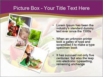 Tasting salad PowerPoint Template - Slide 17