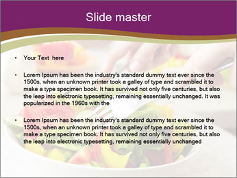 Tasting salad PowerPoint Template - Slide 2
