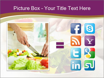 Tasting salad PowerPoint Template - Slide 21