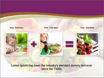 Tasting salad PowerPoint Template - Slide 22