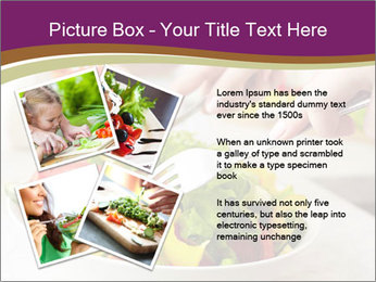 Tasting salad PowerPoint Template - Slide 23