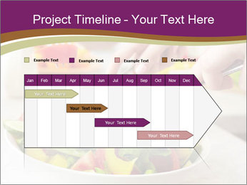 Tasting salad PowerPoint Template - Slide 25