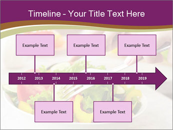 Tasting salad PowerPoint Template - Slide 28