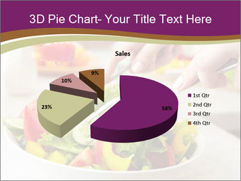Tasting salad PowerPoint Template - Slide 35