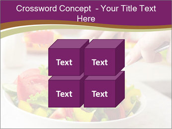 Tasting salad PowerPoint Template - Slide 39