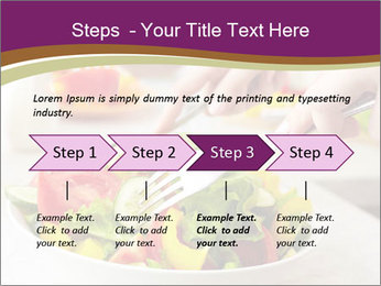 Tasting salad PowerPoint Template - Slide 4