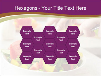 Tasting salad PowerPoint Template - Slide 44