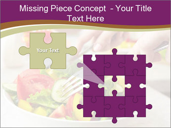 Tasting salad PowerPoint Template - Slide 45