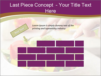 Tasting salad PowerPoint Template - Slide 46